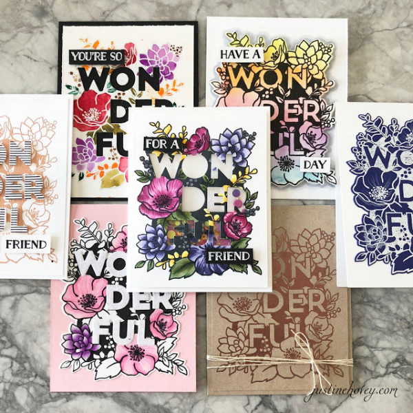 Projects: 7 Cards from 1 Stamp