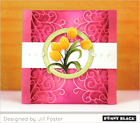 Gate Fold and Wrap Card with New Penny Black Dies