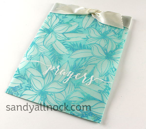 Project: Vellum Floral Patterned Card