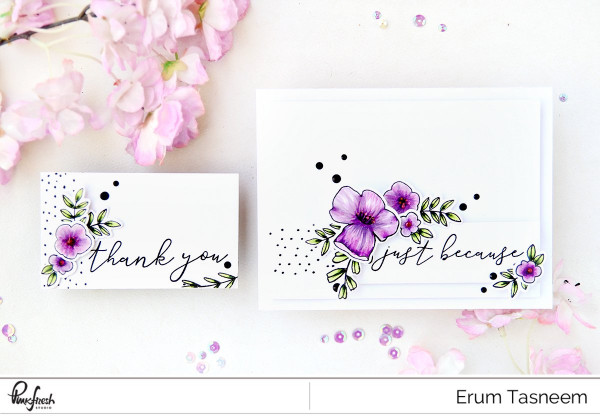 Project: Clean and Simple Flower Card and Tag