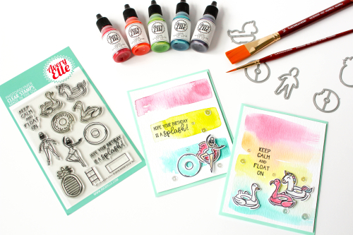 Tip: Quick Water Color Card Backgrounds