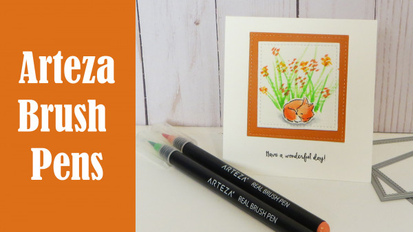 Product Review and Project: Fox Card with Arteza Brush Pens