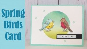 Tutorial: Blue Bird and Robin Card