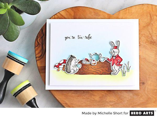 Project: Woodland Tea Party Scene Card