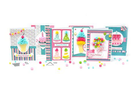 Using Pom Poms on Cards