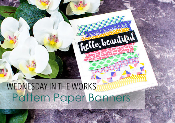 Pattern Papers Banner Card