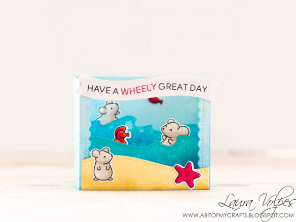 Beach Mice Shadow Box Card