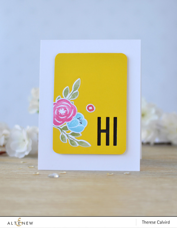 Card with Multiple Die Cut Inlay Technique