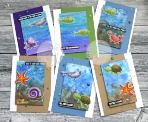 Underwater Cards with Distress Oxide Glaze