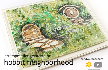 Hobbit Holes Card