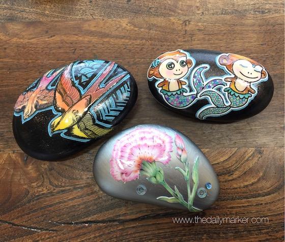 Stamped Rocks