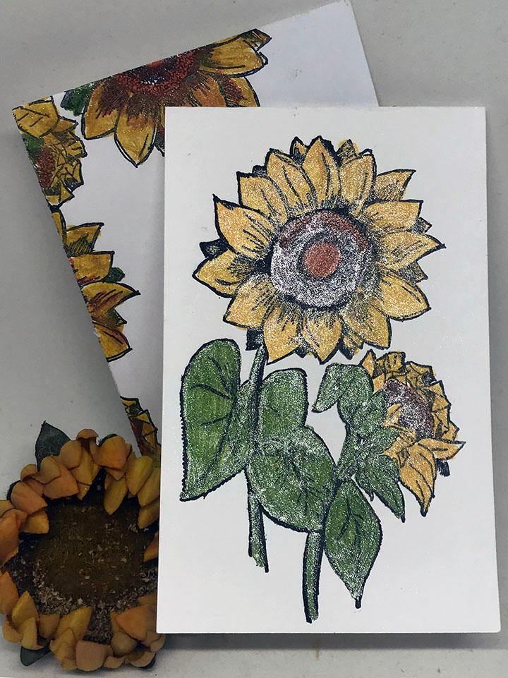 Glitter Sunflower Card