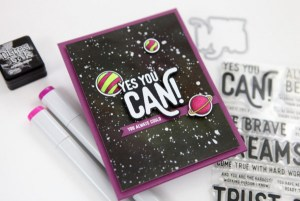 Galaxy Card with Distress Inks