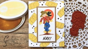 Fall Scarecrow Card with No-Line Coloring
