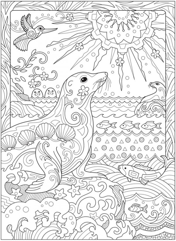 - 6 Sea Life Coloring Pages – Stamping