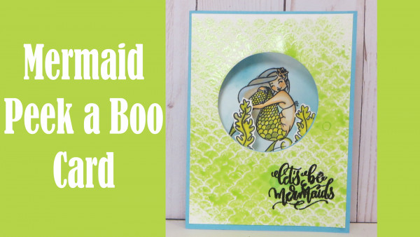 Mermaid Peek a Boo Card