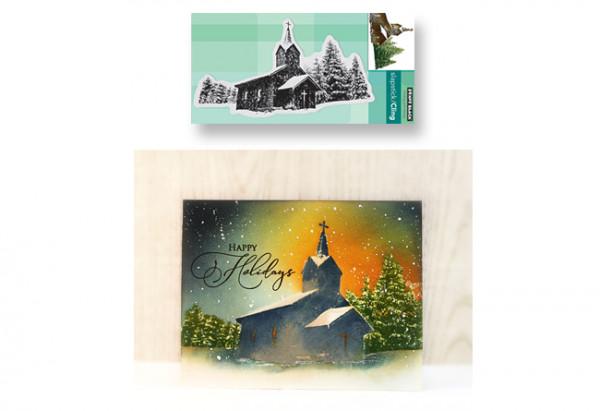 Winter Church Scene Card