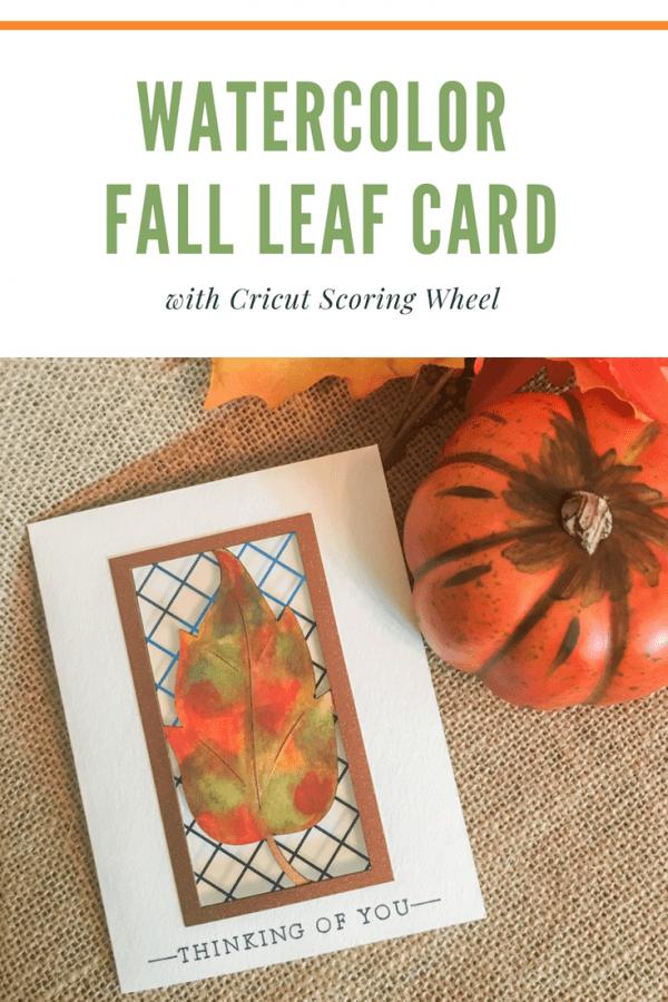 Watercolor Die Cut Fall Leaf Card