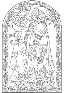6 Day of the Dead Coloring Pages