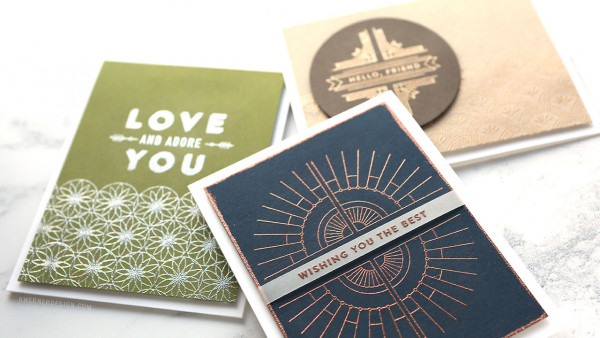 Metallic Heat Embossed Cards