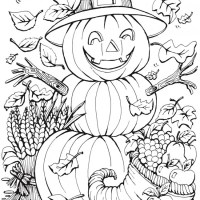 6 Fall Halloween Pumpkin Coloring Pages