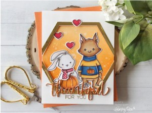 Fall Animals Card with Metallic Touches