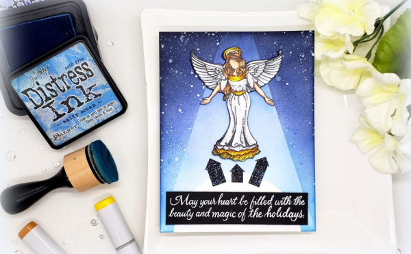 Angel Card with Spotlight Effect