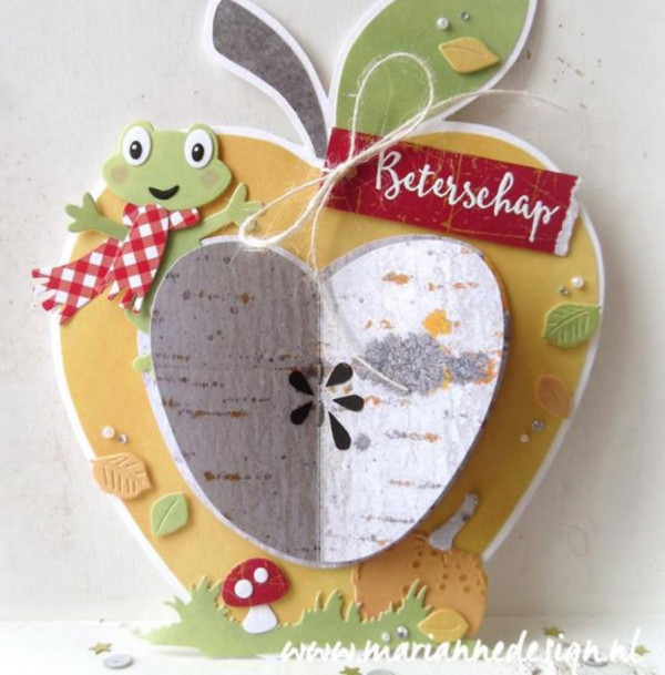 Apple Shaped Card