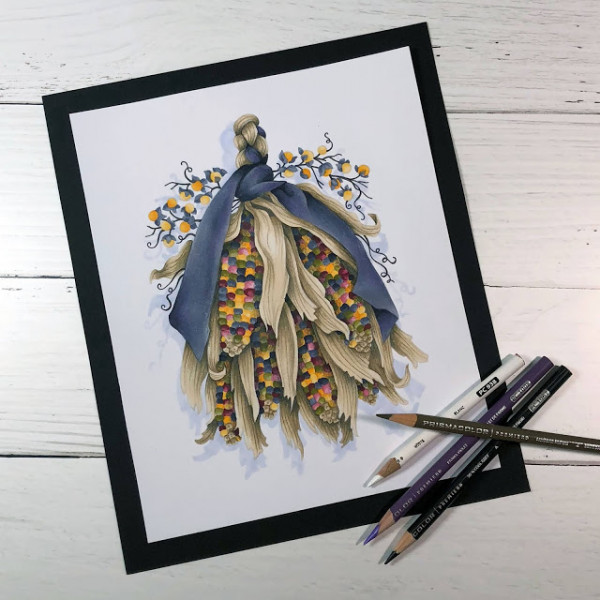Colorful Corn Coloring