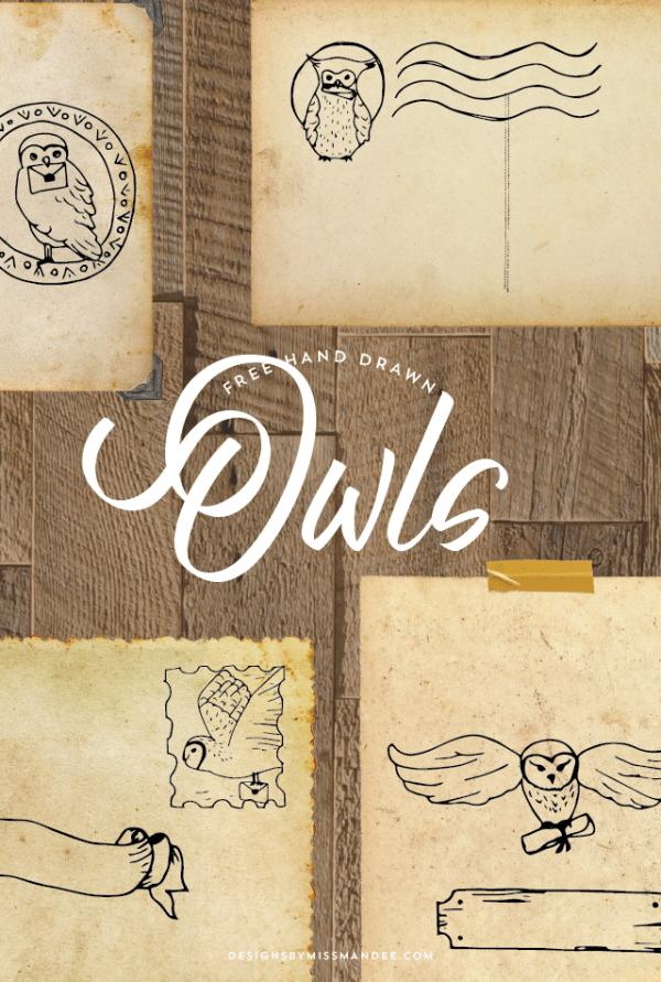 Harry Potter Owl Post Digital Stamps