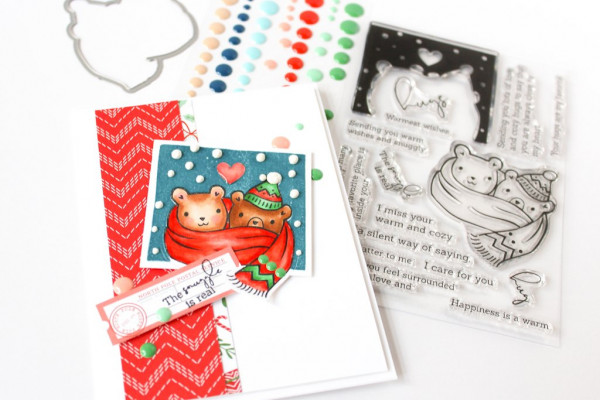 Holiday Cards with Pattern Papers