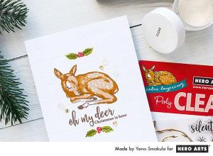 Deer Card with Layering Stamps