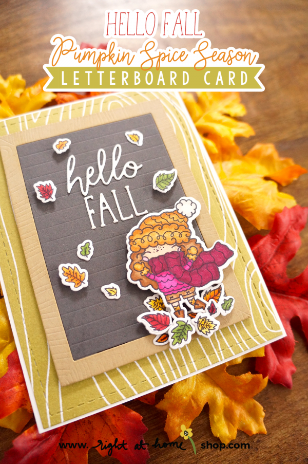 Letterboard Style Fall Card