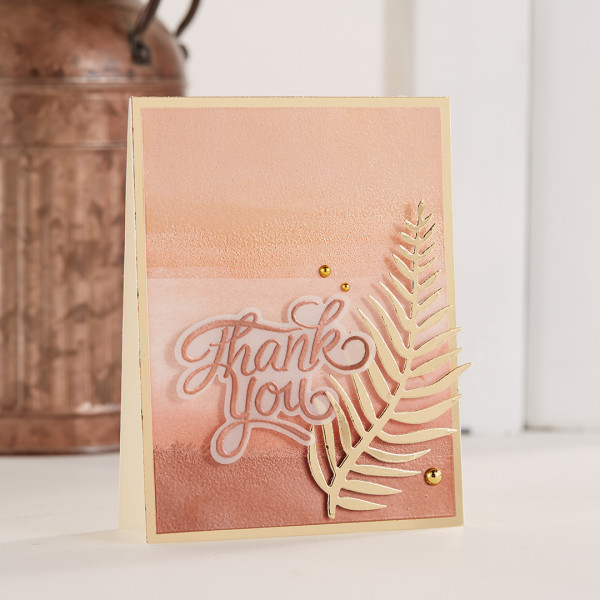Metallic Ombre' Card