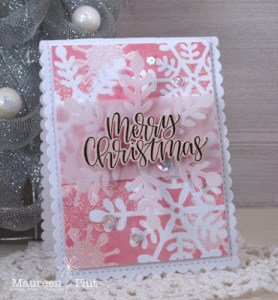 Stenciled Snowflakes Card