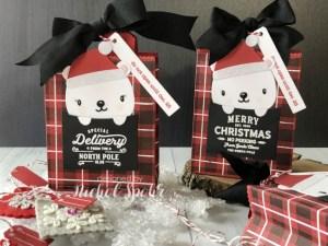 Polar Bear Plaid Gift Bags