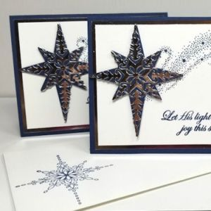 Silver Star Christmas Card