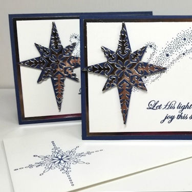 Silver Star Christmas Card