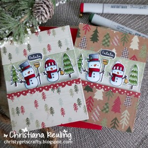 Snowmen Cards with Copic Coloring