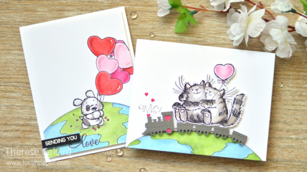 5 Valentine Cards with Critters