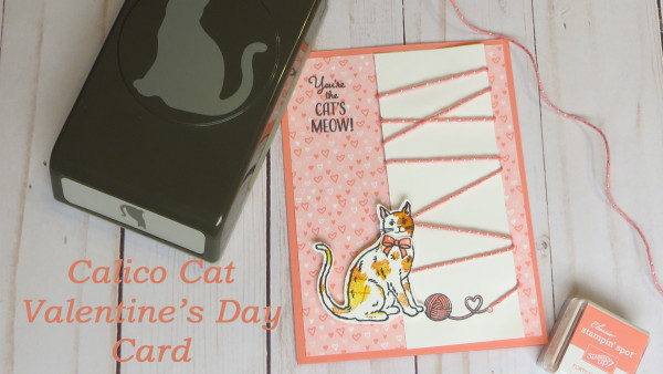 Calico Cat Valentines Day Card Stamping