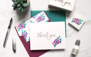 DIY Thank You Stamps