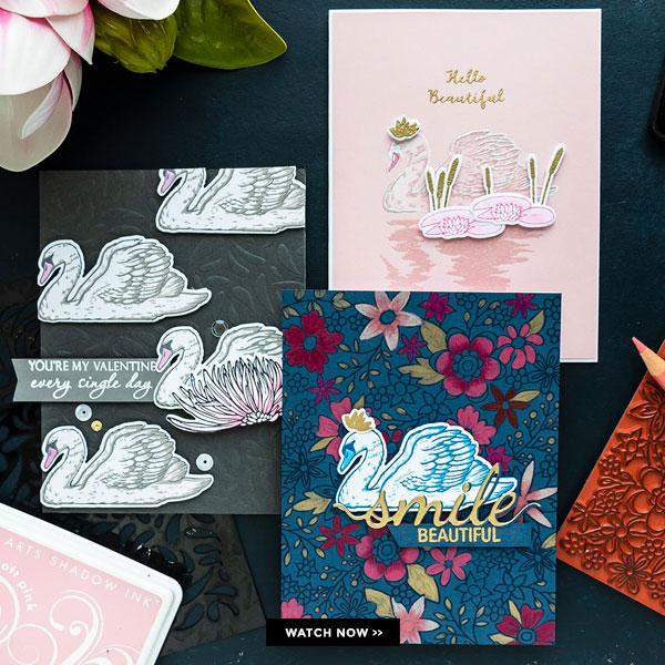 One Swan Stamp Used Three Ways