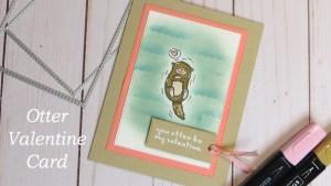 Otter Valentine Card