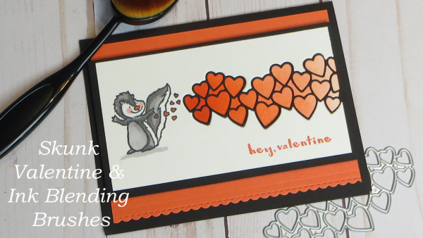 Skunk Valentine with Ink Blending Brushes