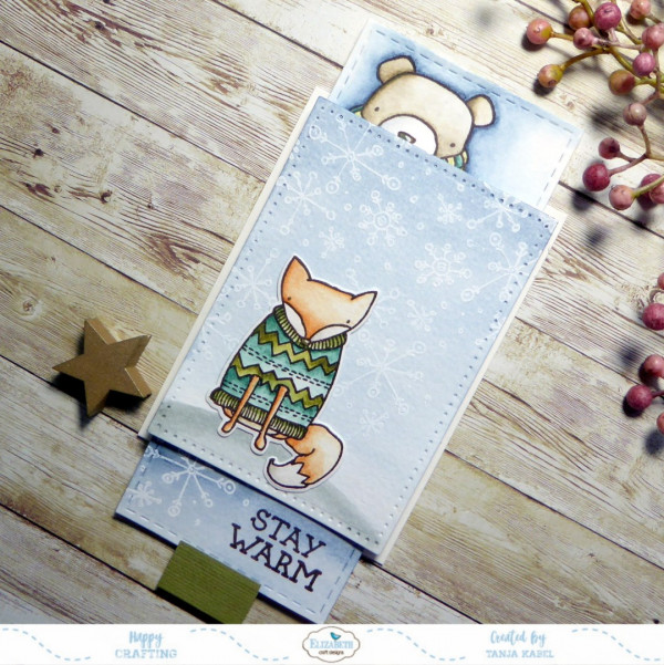 Winter Animals Slider Card