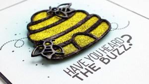 Beehive Glitter Card