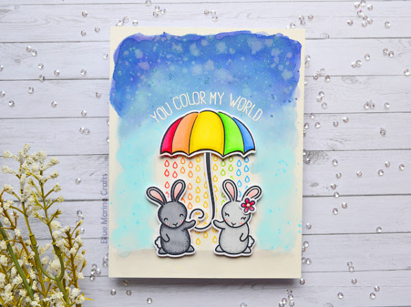 Rabbit Umbrella Card (with a twist)