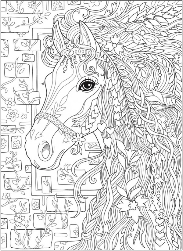 5 Fantasy Horse Coloring Pages Stamping