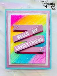 Rainbow Resin Card